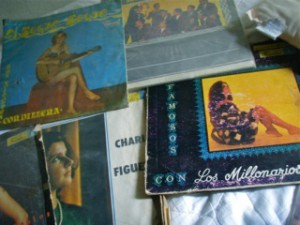 records on bed